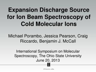 Expansion Discharge Source for Ion Beam Spectroscopy of Cold Molecular Ions