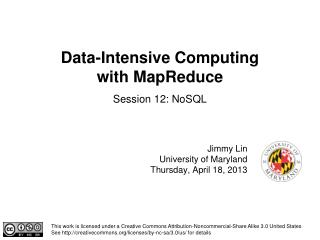 Data-Intensive Computing  with MapReduce