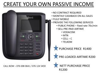 CREATE YOUR OWN PASSIVE INCOME