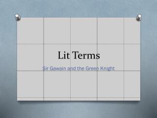 Lit Terms