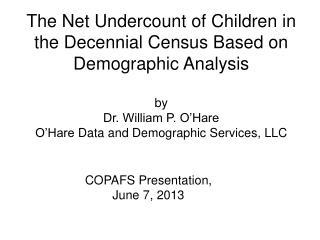 COPAFS Presentation,  June 7, 2013