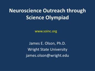 Neuroscience Outreach through Science Olympiad