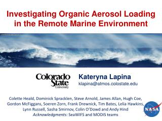 Investigating Organic Aerosol Loading in the Remote Marine Environment