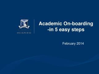 Academic On-boarding -in 5 easy steps