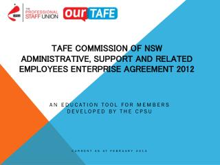 TAFE Commission of NSW Administrative, Support and Related Employees Enterprise Agreement 2012