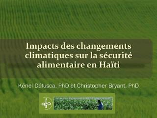 Impacts des changements climatiques sur la s�curit� alimentaire en Ha�ti