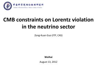 CMB  constraints on  Lorentz  violation in the neutrino sector