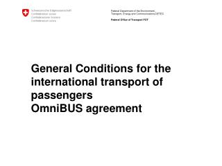 General Conditions for the international transport of passengers OmniBUS  agreement