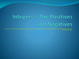 Integers – The Positives and Negatives