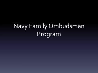 Navy Family Ombudsman Program