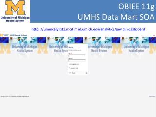 OBIEE 11g  UMHS Data Mart  SOA