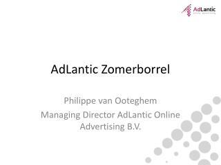 AdLantic  Zomerborrel