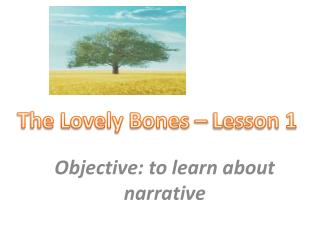 Objective: to learn about narrative