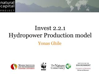 Invest 2.2.1 Hydropower Production model
