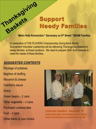 Support  Needy Families