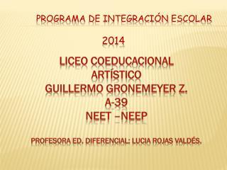 Programa  de Integración  Escolar 2014