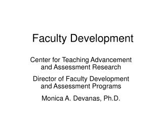 Faculty Development