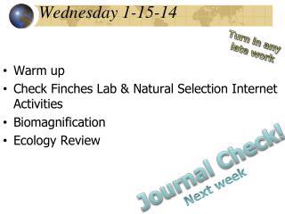 Wednesday 1-15-14