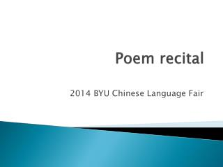 Poem recital