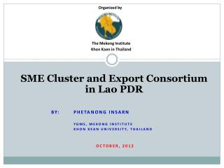 SME Cluster and Export Consortium in Lao PDR