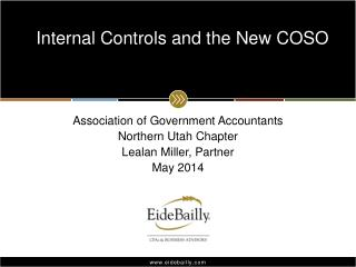 Internal Controls and the New COSO