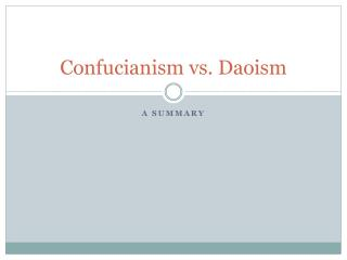 confucianism versus daoism responsibility Essay about comparison of taoism and confucianism confucianism and daoism even though he died in 479 bc human behavior: nurture versus nature.