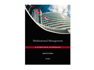 CHAPTER 1 MULTINATIONAL MANAGEMENT  IN A CHANGING WORLD