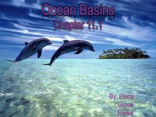 Ocean Basins Chapter 11.1