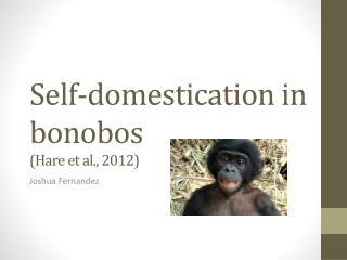 Self-domestication in bonobos (Hare et al., 2012)