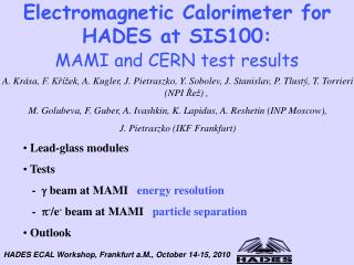 Electromagnetic Calorimeter for HADES at SIS100: MAMI and CERN test results