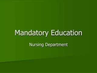 Mandatory Education