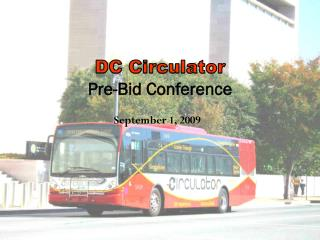 DC Circulator  Pre-Bid Conference