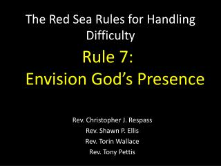The Red Sea Rules for Handling Difficulty