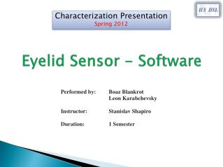 Eyelid Sensor - Software