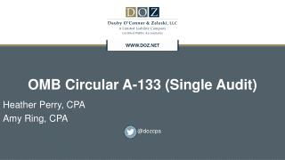 OMB Circular A-133 (Single Audit)