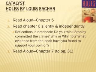 Catalyst: Holes  by Louis  Sachar
