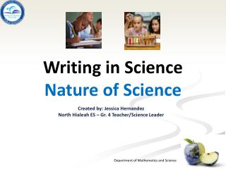 Writing in Science Nature of Science