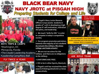BLACK BEAR NAVY NAVY JROTC at PISGAH HIGH