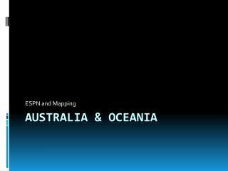 Australia & OCEANIA