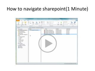 How to navigate  sharepoint (1 Minute)