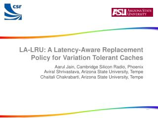 LA-LRU: A Latency-Aware Replacement Policy for Variation Tolerant Caches