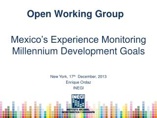 Mexico's Experience Monitoring Millennium Development Goals
