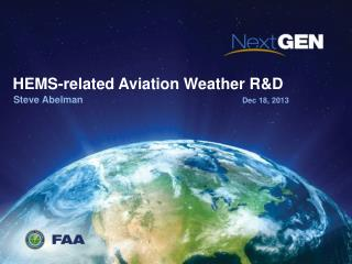 HEMS-related Aviation Weather R&D