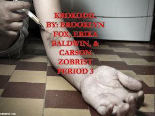 Krokodil by: Brooklyn fox, Erika Baldwin, & Carson zobrist Period 3
