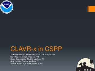 CLAVR-x in CSPP