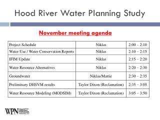 November meeting agenda