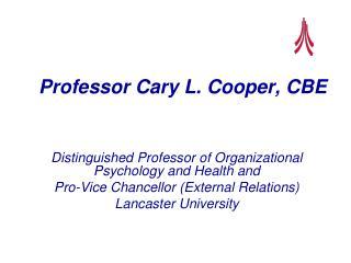 Professor Cary L. Cooper, CBE