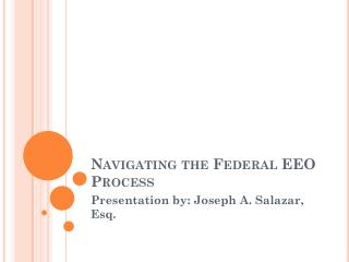 Navigating the Federal EEO Process
