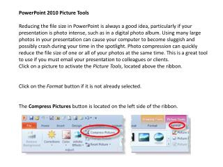 PowerPoint 2010 Picture Tools