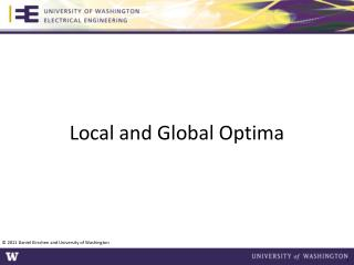 Local and Global Optima